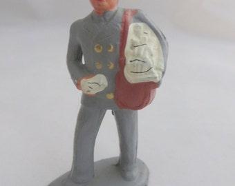 Mailman Toy Lead Figure Vintage