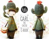 lalylala crochet pattern CACTUS CARL - amigurumi