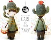 CARL the cactus • lalylala crochet pattern / amigurumi