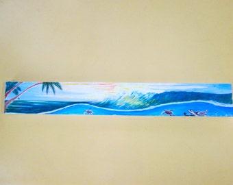 Large 24 x 3 Beach House Sign- Custom Design- Ocean- Beach House decor