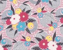 Gardenvale by Jen Kingwell Designs for Moda - Floral Dots - Floral Geometric Gardenia-Snapdragon - FQ Fat Quarter cotton quilt fabric