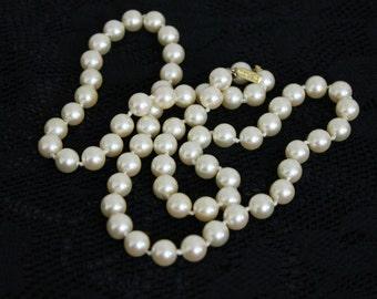 Vintage Marvello Faux Pearl Necklace