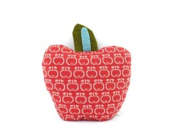 Apple: Wool / Leather cushion