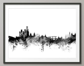 Amsterdam Skyline, Amsterdam The Netherlands Cityscape Holland, Art Print (1532)