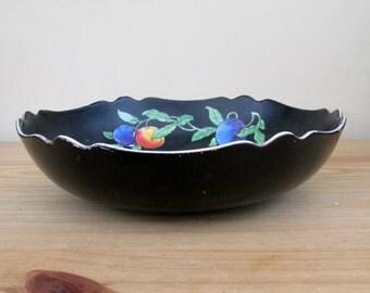 Art Deco Black Fruit Bowl by Regal Pottery England Vintage 1920s Home Decor