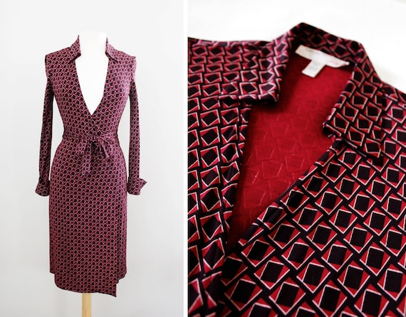 Vintage Dvf Geometric Wrap Dress il xN r z jpg