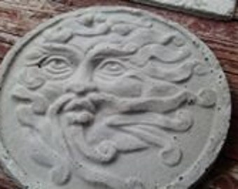 Concrete Garden Art - Stepping Stone - The Wind Man