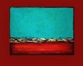 "Abstract Art  Acrylic Original Painting on Canvas Titled: Urban 9 30x40x1.5"" by Ora Birenbaum"
