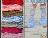 Lace Ruffle Legwarmers Leg Warmers - Girl, Baby, Toddler Girl Lace Leggings - Lace Tights - Photo Prop Purple Pink Gray Blue Brown Red