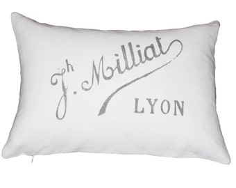 French Industrial Chic Pillow Sham