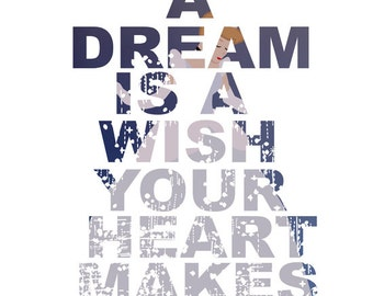 cinderella, a dream is a wish your heart makes.. instant download jpeg
