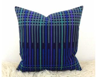 Cushion Cover Handmade From Vintage Heals Quatrain Fabric