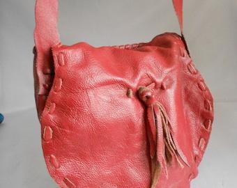 women's handmade soft cow leather shoulder bag  women's leather bag