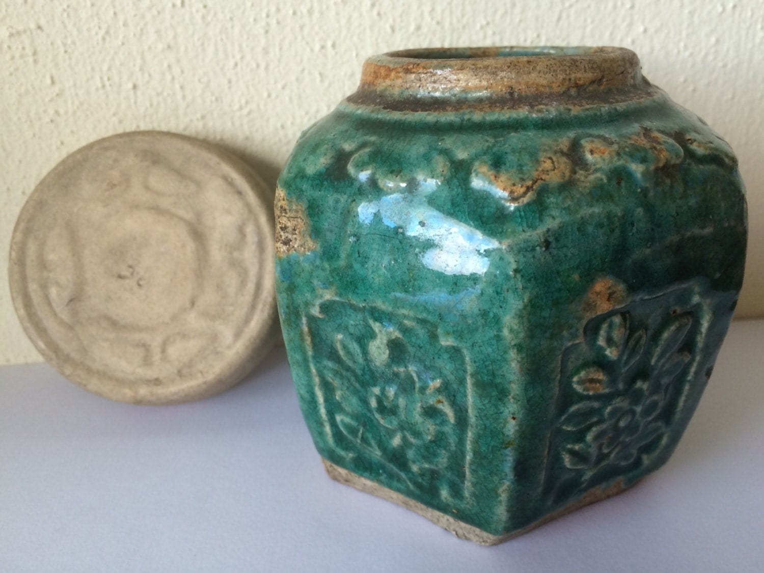 Chinese Ginger Jars Antique Chinese Pottery Ginger Jar Blue Green Glaze With