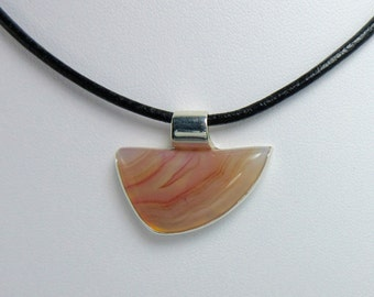 Sterling Silver Agate Pendant Necklace - SS c7643