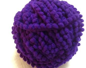 5 Yards - Pom Pom Lace - Purple Green Pom Pom - Pom Pom Supply - Cushion Cover - Dress - Quilting