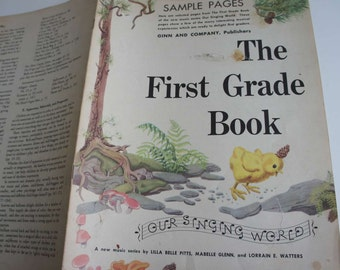 Vintage 1940s Childrens Music Book The First Grade Book Our Singing World