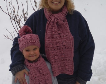 Mom & Daughter Scarf Sets Crochet Pattern