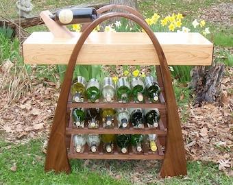 Walnut and Cherry Wine Rack