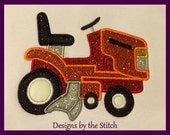Lawn Mower Applique Tractor INSTANT DOWNLOAD Embroidery Design