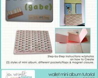 Wallet Mini Album Tutorial (Quick & Easy ) - Instant Download - Reg 8.95