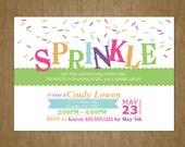 DIY Baby Sprinkle Invitation - 5x7 - Sprinkles - Baby Shower Invitation