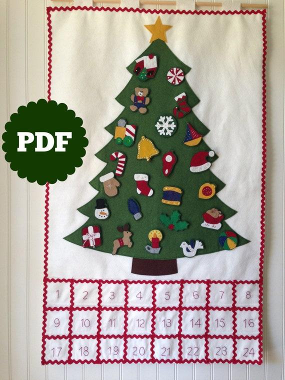 FELT ADVENT CALENDAR pattern diy Christmas countdown