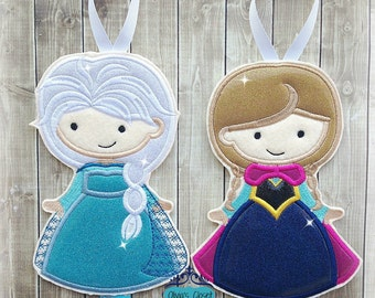 Frozen Bow Holder Anna Bow Holder Elsa Bow Holder Anna and/or Elsa Inspired Characters for Hair Clips/ Pins OR Headbands
