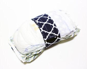 Lattice Diaper Strap - Navy Lattice