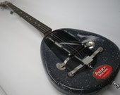 Vintage 1960's Bed Pan Banjo Dark Blue 5 string Bluegrass Panjo