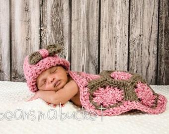 Crochet Turtle Cape Photography Prop