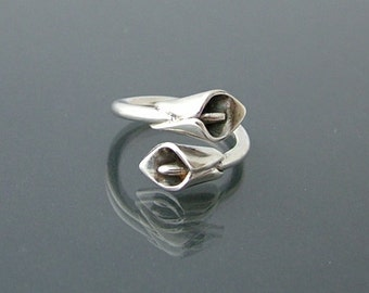 Sterling silver Calla Lily ring.