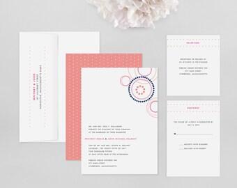 Wedding Invitation Modern Sample - Cirque  - Wedding Invitation, Modern Wedding Invitation, Modern Wedding Invitations, Wedding Invites