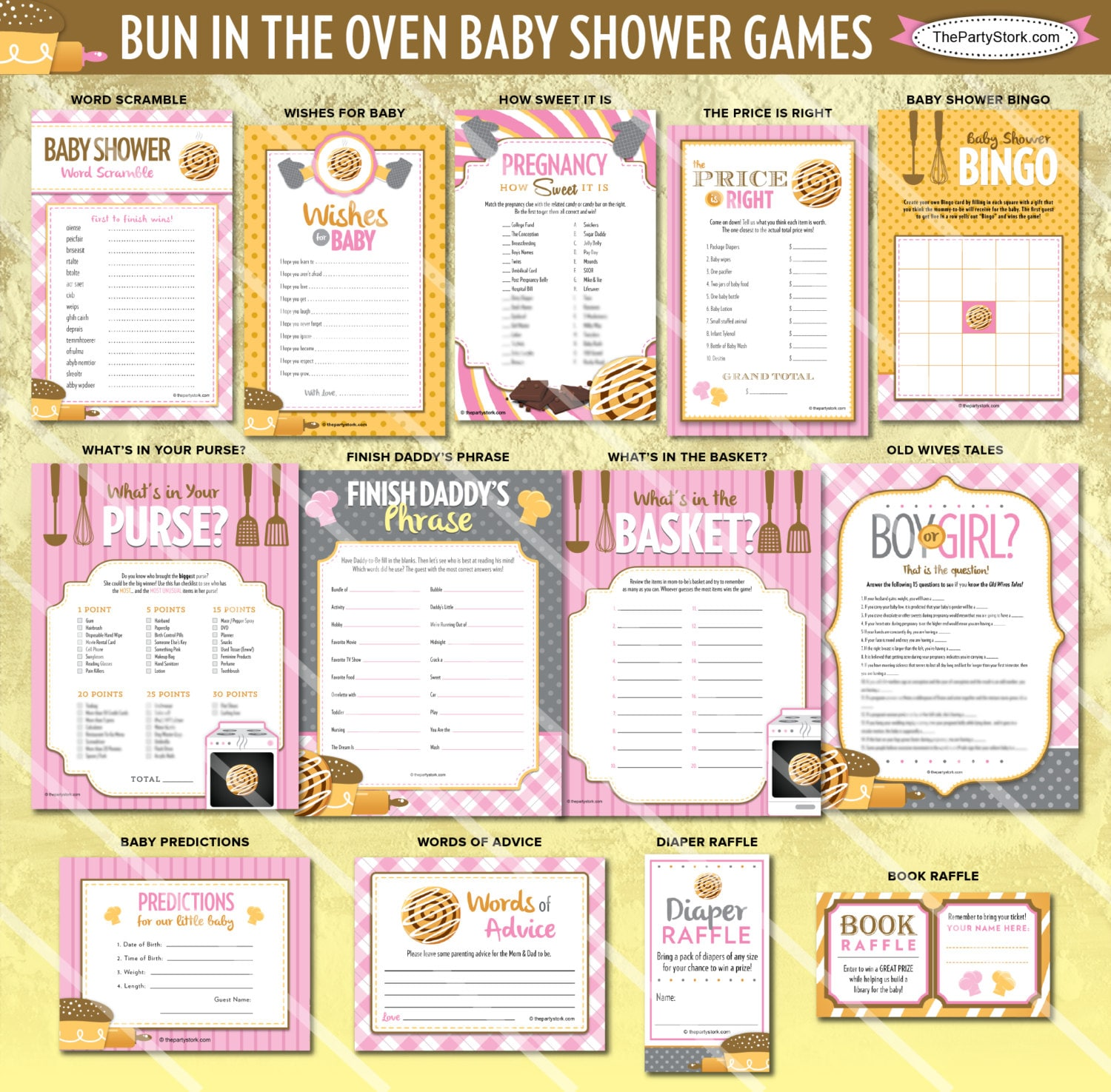 bun in the oven baby shower games baby girl shower games