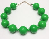 Vintage Necklace Green 70s