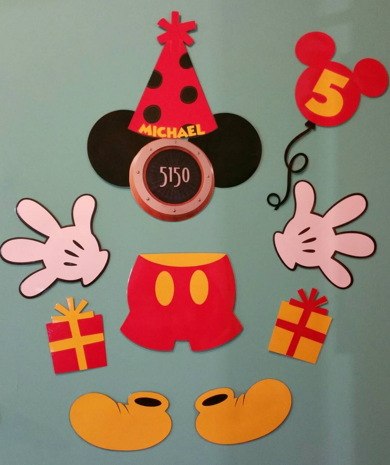 Birthday Mickey Cruise Stateroom Door Laminated Magnets with