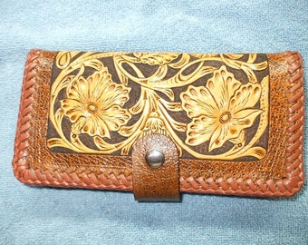 Brown western long wallet./ roper wallet. (003) ships same day as ordered.