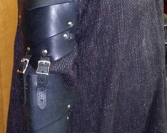 Leather Armor IN STOCK Segmented Full Arm Black