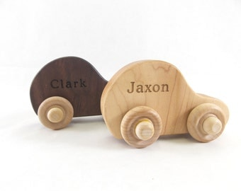 PERSONALIZED Wooden Car - Natural Eco Friendly - Wooden Toy Car
