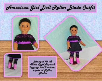 American Girl Doll Roller Blade Outfit Great for Easter, Spring, Summer, and Playtime Fun