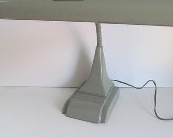 Vintage 1950 Industrial Gray Desk  Task Lamp Art Specialty Co Chicago