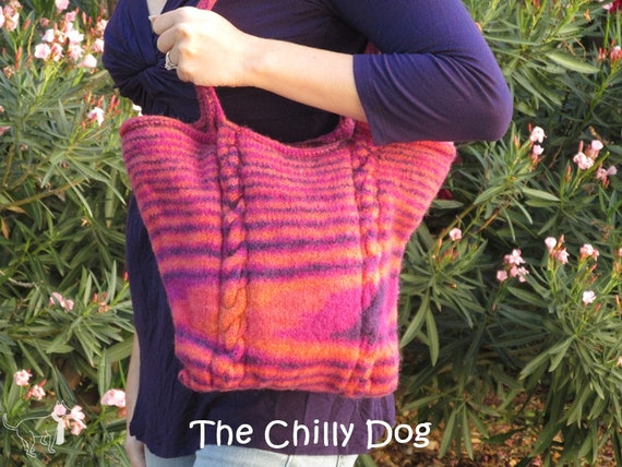 Felted Arizona Sunset Bag: Knit Pattern PDF