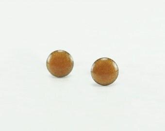 GOLD Stud Earrings - Gold Earrings - Metallic Gold Color Ear Studs - Gold Earrings Stud - Surgical Steel Post Earrings - Gifts 4mm, 6mm, 8mm