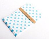 SALE 20 Blue Polka Dot Bitty Bags 5 x 7.5