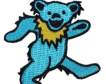 "Grateful Dead Band 2"" Dancing Bear March Strip Rock Icon Iron On Applique Patch"