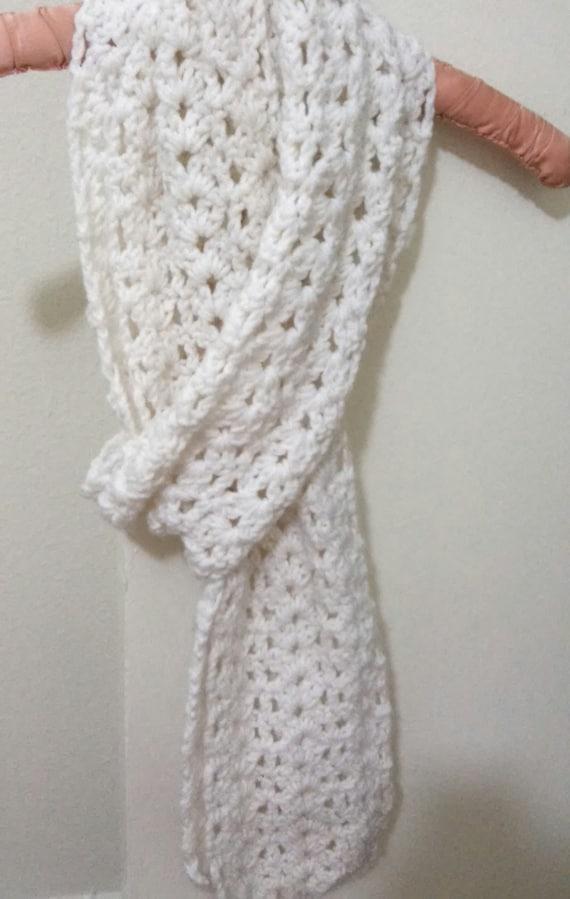 Free Crochet Pattern Scallop Scarf : Scallop crochet Scarf