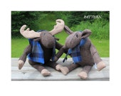 Moose PATTERN PDF, Murphy & Mabel, from woven or fleece fabrics, new or upcycled
