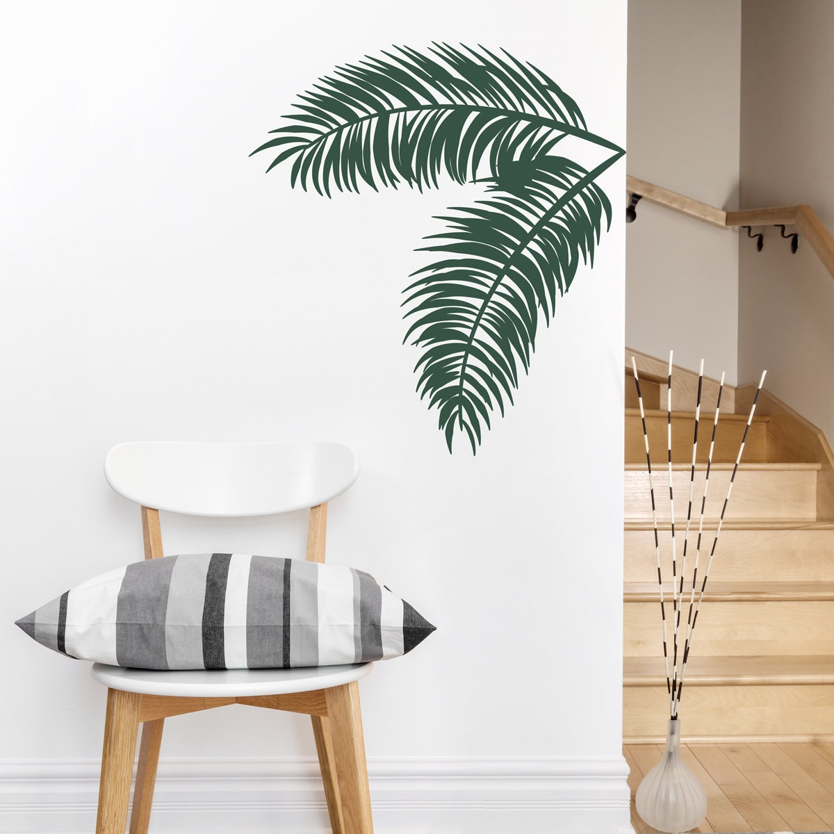 Palm Leaves Wall Decal Tropical Wall Art Palm Tree Decal