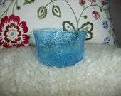 Vintage wonderful blue Fauna bowl by Nuutajärvi Finland Oiva Toikka design