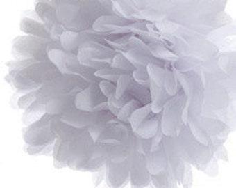 "14"" White Tissue Paper Pom- Large Paper Flower Poms- Wedding Decoartion- Baby Shower- Bridal Decor- Hanging Room Pom- Valentines- Birthday"